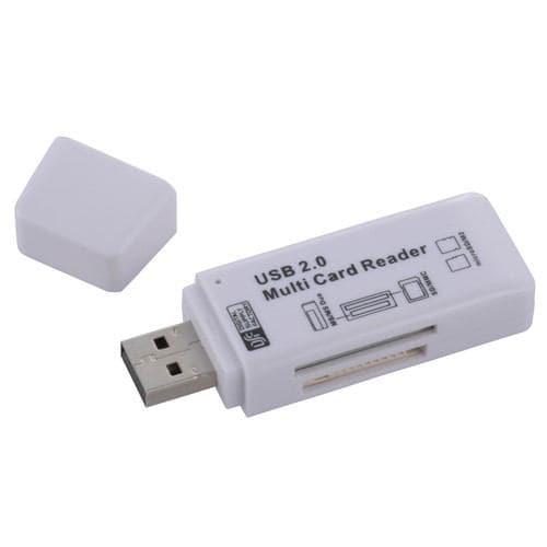 オーム電機 PC-SCRW5-W マルチカードリーダー USB 50in1 ホワイト