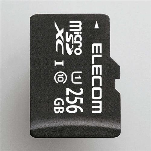 エレコム MF-DMR256GUL microSDXCメモリカード(UHS-I対応)