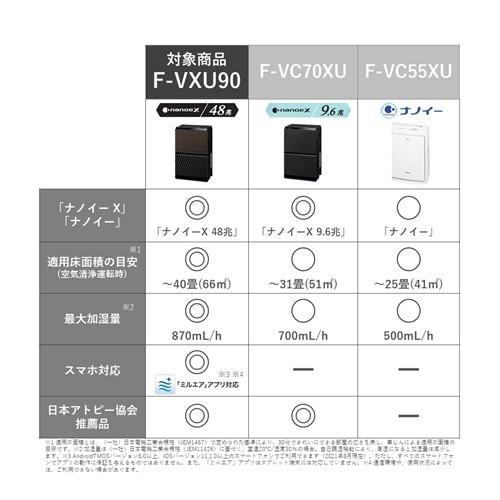Panasonic F-VXU90-TM 加湿空気清浄機 木目調
