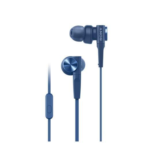 ソニー MDR-XB55AP-L マイク&コントローラー搭載 ダイナミック密閉型カナルイヤホン ブルー