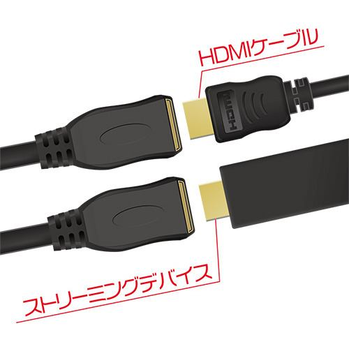 ミヨシ HET-10/BK HDMI延長ケーブル 1.0m ブラック
