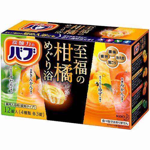 花王 バブ 至福の柑橘めぐり浴 12錠入 入浴剤