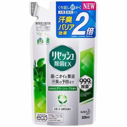 花王 Resesh(リセッシュ) リセッシュ 除菌EX グリーンハーブの香り つめかえ用 320ml 消臭剤・芳香剤