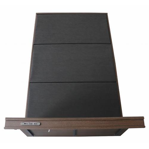 [セミダブル]ヤマダオリジナル コンセント&USBポート付ベッドフレーム ダークブラウン