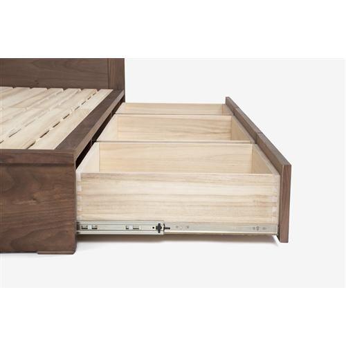大塚家具 [セミダブル]ベッドフレーム 「ヴィータ」 引出し付き ウォールナット材