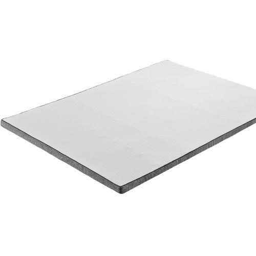 [セミダブル]篠原化学 トッパー 厚さ6cm マットレスやふとんに一枚重ねる 高反発 ecolatte 118×195×6cm ホワイト・グレー