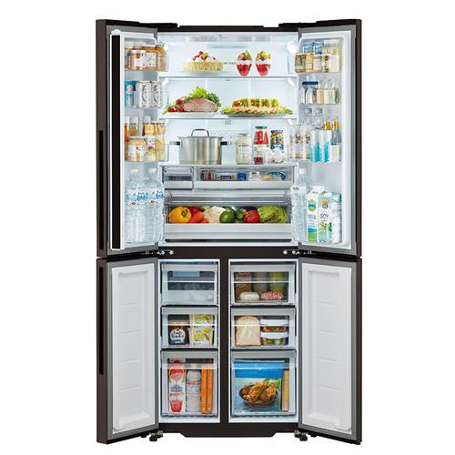 アクア AQR-TZ42K(T) 4ドア冷蔵庫 (420L・フレンチドア) ダークウッドブラウン