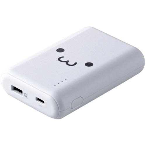 エレコム DE-C14L-10050WF モバイルバッテリー リチウムイオン電池 Type-C入力対応 10050mAh QuickCharge3.0対応 USB-A出力1ポート PSE適合 ホワイトフェイス