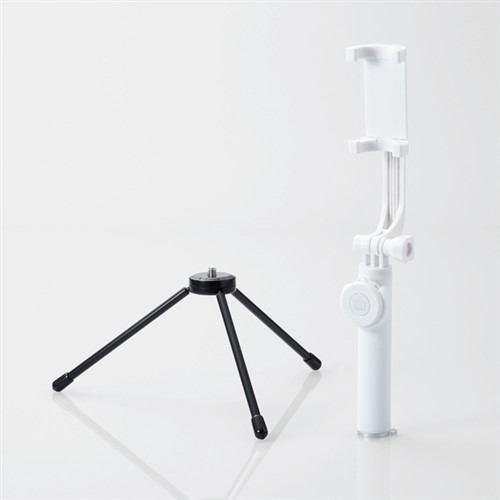 エレコム P-SSBTRWH Bluetooth自撮り棒(三脚付/45cm/回転ホルダータイプ) ホワイト