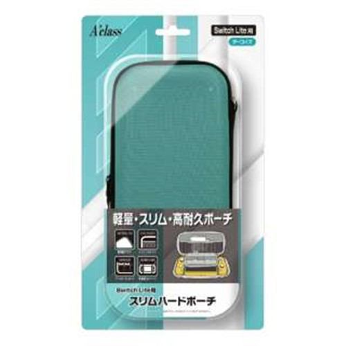 アクラス SASP-0537 Switch Lite用 スリムハードポーチ ターコイズ
