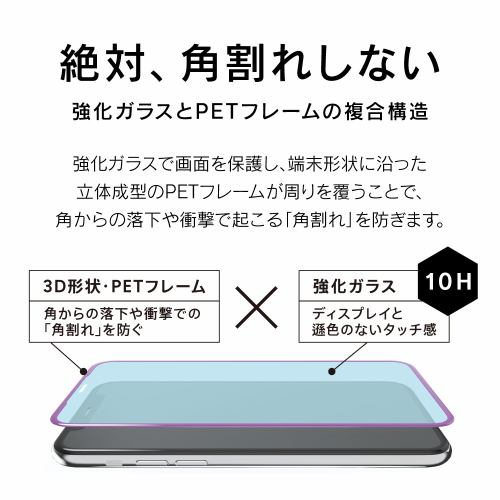 トリニティ TR-IP19M-G3-CCBK iPhone 11/XR 複合フレームガラス ブラック