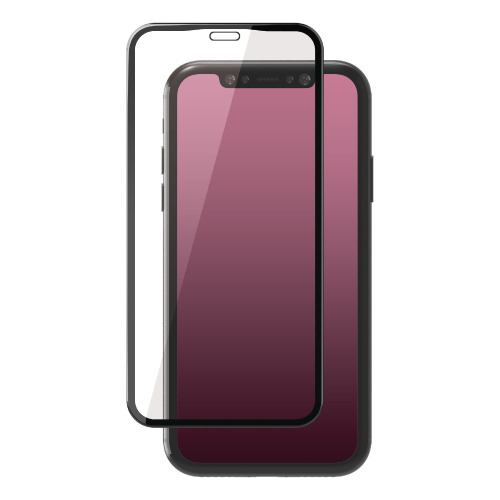エレコム PM-A19CFLGFRBK iPhone 11用 フルカバーガラスフィルム/フレーム付