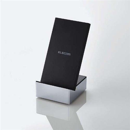 エレコム W-QS04SV Qi規格対応ワイヤレス充電器 急速 スタンド メタル筐体 シルバー