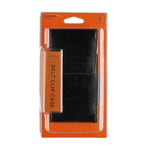 エレコム P-BCT02BK スマートフォン用ベルトクリップケース/縦型/Lサイズ