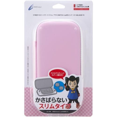 サイバーガジェット CY-NSLSHSP-PI セミハードケース スリム プラス ( SWITCH  Lite 用) ピンク