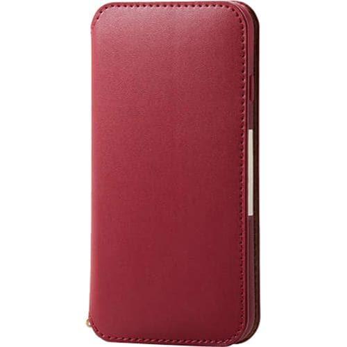 エレコム PM-A19APLFY2RD iPhone SE(第2世代) ソフトレザーケース 磁石付 レッド
