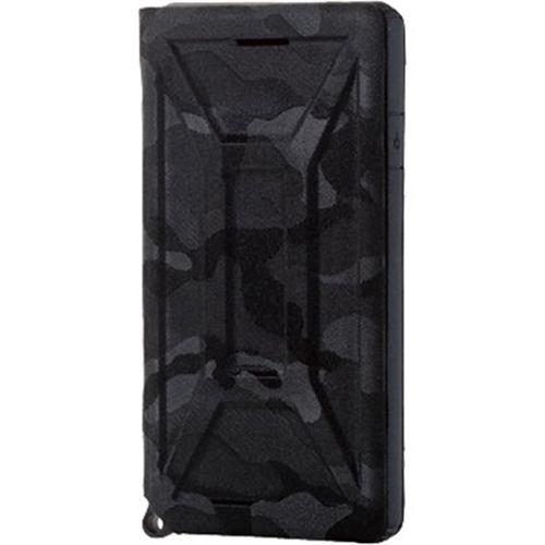 エレコム PM-A19AZEROFT1 iPhone SE(第2世代) ZEROSHOCK フラップ カモフラ(ブラック)