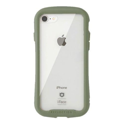 HAMEE 41-907511 iPhone SE(第2世代),iPhone 8,7専用 iFace Reflection 強化ガラス クリアケース iFace カーキ