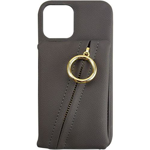 CCCフロンティア iPhone 12 Pro / iPhone 12 (2020年発売 6.1インチ)ケース Clutch Ring Case dark gray ML-CSIP20L-2CRDG