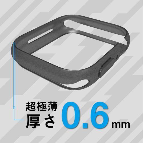 トリニティ Apple Watch 44mm SE/6/5/4 バンパーケース クリアレッド TR-AW2044-BP-CLRD