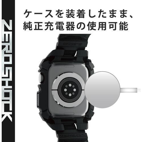 エレコム AW-44CSZERORD Apple Watch 44mm ケース ZEROSHOCK レッド