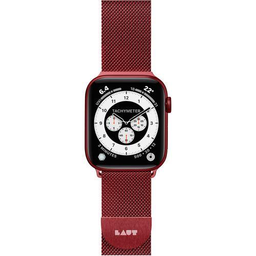 LAUT L_AWL_ST_R Apple Watch 1/2/3/4/5/6/SE 42/44mm BAND LAUT STEEL LOOP レッド