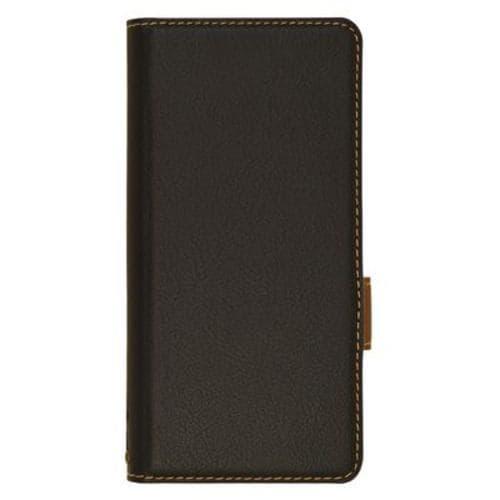 ラスタバナナ 6115XPA2BO Xperia Ace II 薄型手帳ケース サイドマグネット ブラック×ダークブラウン
