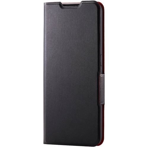 エレコム PM-O212PLFUBK OPPO Reno5 A レザーケース 手帳型 UltraSlim 薄型 磁石付き ブラック