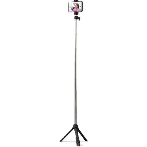 エレコム P-STSRSMBK スマートフォン用三脚 自撮り棒 2way 最大950mm アクセサリーシュー付 ブラック