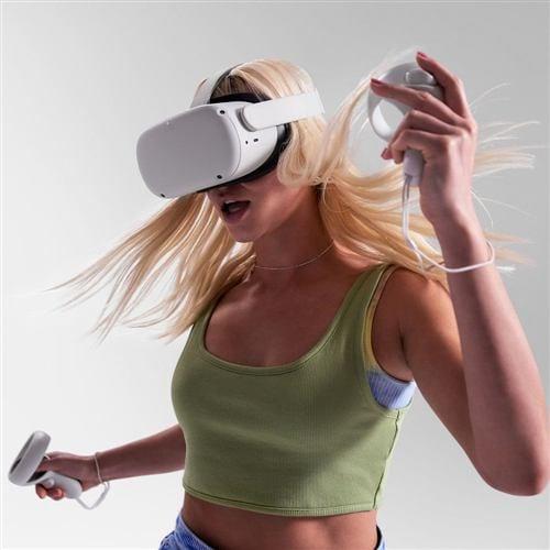 オキュラス Facebook 899-00183-02 Oculus Quest 2 128GB VRヘッドセット ライトグレイ オキュラスクエスト2