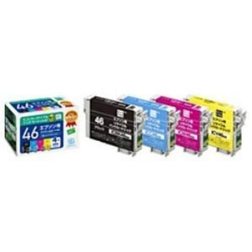 エコリカ ECI-E464P/BOX エプソン IC4CL46 互換リサイクルインクカートリッジ 4色パック