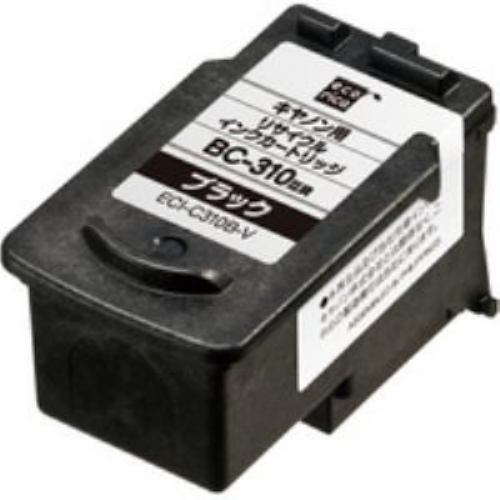 インク エコリカ カートリッジ ECI-C310B-V BC-310対応 リサイクルインクカートリッジ ブラック