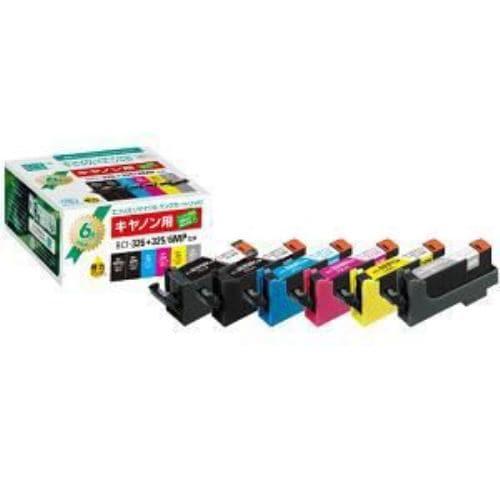 インク エコリカ リサイクルインク 互換インクカートリッジBCI-325PGBK、BCI-326シリーズ互換 6本パック ECI-C325+3266P/BOXBCI-326+325/6MP