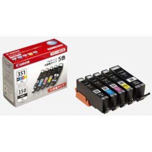 インク キヤノン 純正 カートリッジ インクカートリッジ BCI-351XL+350XL/5MP インクタンク 大容量 5色マルチパック インク
