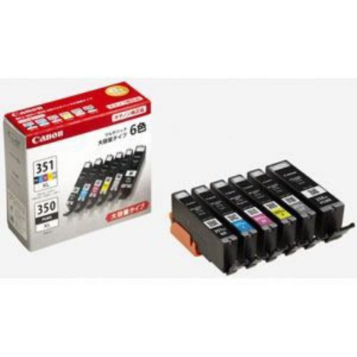 インク キヤノン 純正 カートリッジ インクカートリッジ BCI-351XL+350XL/6MP インクタンク 大容量 6色マルチパック インク