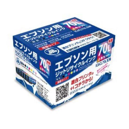 インク ジット カートリッジ JITKE70L6P EPSON:IC6CL70L(増量)(6色パック)対応 リサイクルインクカートリッジ 目印:さくらんぼ
