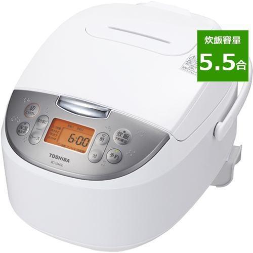 炊飯器 東芝 RC-10MSL(W) マイコンジャー炊飯器 5.5合炊き ホワイト 5.5合