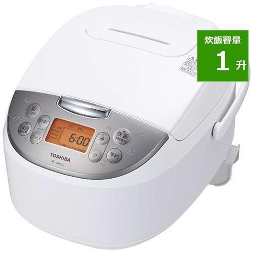 炊飯器 東芝 RC-18MSL(W) マイコンジャー炊飯器 1升 ホワイト 一升 1升