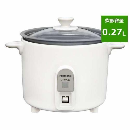 炊飯器 パナソニック SR-MC03-W ミニクッカー 1.5合炊き ホワイト 1.5合