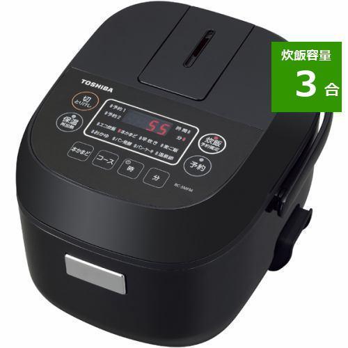 炊飯器 東芝 RC-5MFM(K) マイコン炊飯器 3合炊き ブラック 3合
