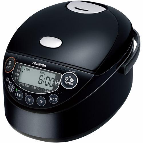 炊飯器 東芝 RC-6XM-K IH炊飯器 備長炭鍛造かまど釜 3.5合炊き ブラック 3.5合