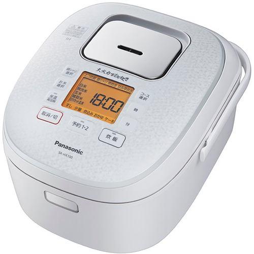 炊飯器 パナソニック SR-HX100-W IH炊飯器 大火力おどり炊き ダイヤモンド銅釜 5.5合炊き スノーホワイト 5.5合