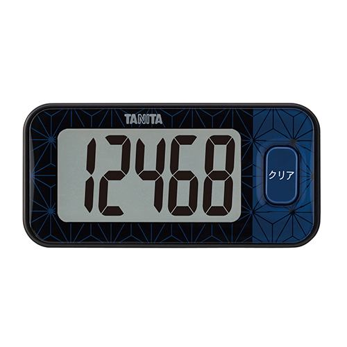 タニタ FB740BK 3Dセンサー搭載歩数計 ブルーブラック
