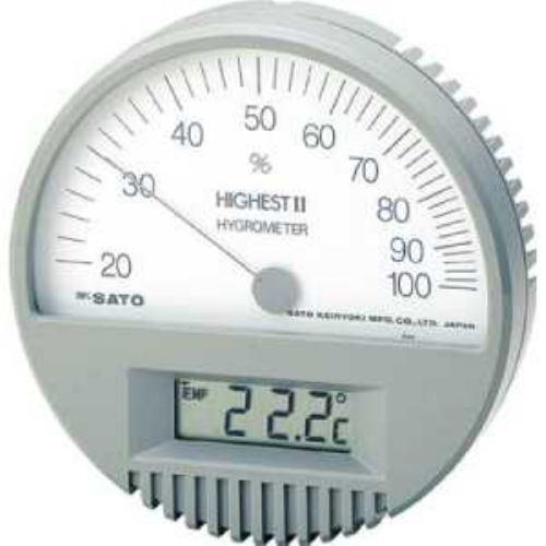 佐藤 湿度計 ハイエスト2型湿度計(温度計付)