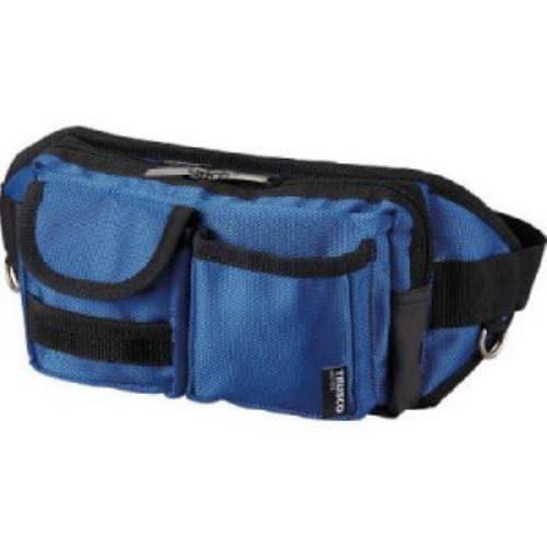 TRUSCO ウエストポーチ 2ポケット ブルー