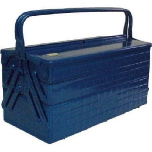 TRUSCO 3段式工具箱 472X220X343 ブルー