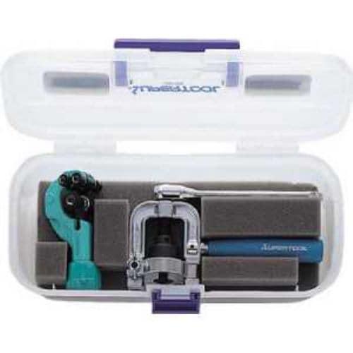 スーパー フレキ管ツバ出し工具(ラチェットハンドル式)・カッターセット