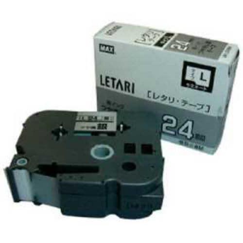 MAX ラベルプリンタ ビーポップミニ 24mm幅テープ つや消し銀地黒字