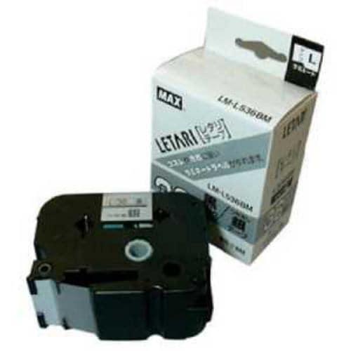 MAX ラベルプリンタ ビーポップミニ 36mm幅テープ つや消し銀地黒字
