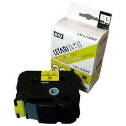 MAX ラベルプリンタ ビーポップミニ 36mm幅テープ 黄地黒字